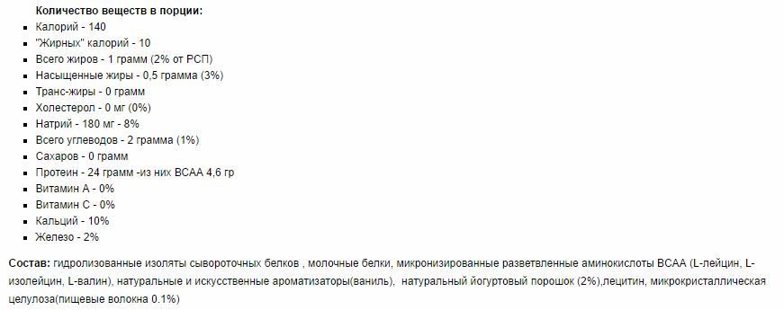 Состав HYDRO MAX